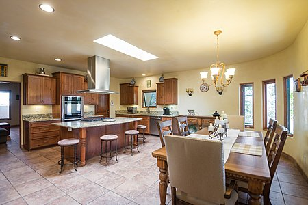 Large European Kitchen that can accomodate a long farm table.
