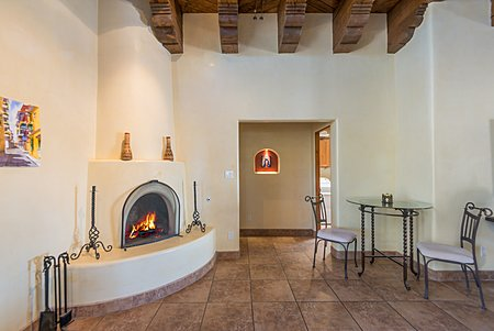 Kiva Fireplace in Great Room.