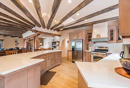 Open kitchen looking toward main room
