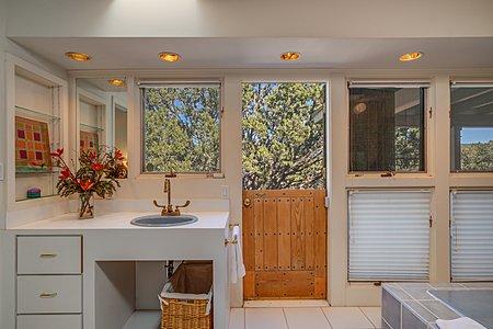 Owner's Bath Vanity and Dutch Door