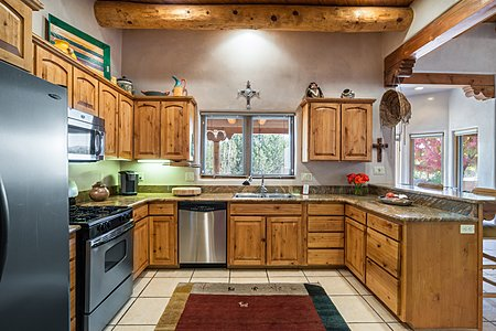 Well-appointed Kitchen with Stainless Steel Appliances...