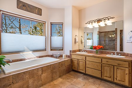 Owner's Suite Bath with Double Vanity and Soaking Tub...