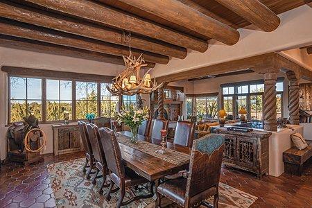 Dining Room has Jemez Mountain Views...