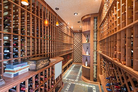 2000 Bottle (approx.) Temperature Controlled Wine Room