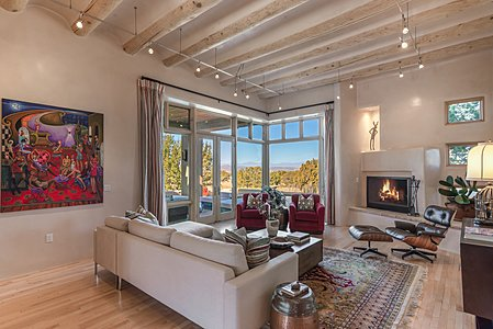 Living Room with Jemez views