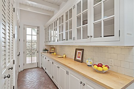 More Storage is found in the Expansive Butler's Pantry