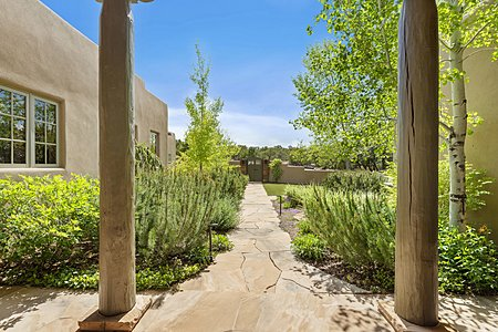 Looking Towards the Entry Courtyard