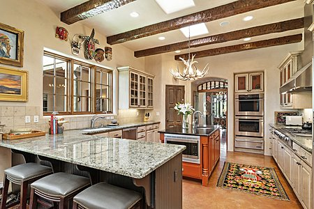 The Well-appointed Kitchen includes Double Ovens and Walk-in Pantry...