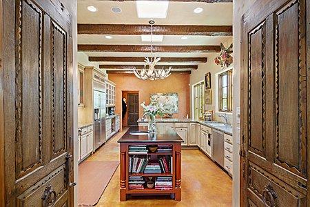 Antique Door Entry to the Gourmet Kitchen