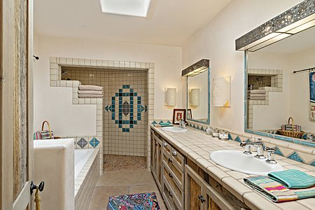 Large Bathroom with Soaking Tub and Walk-in Shower