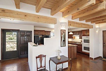 View to Kitchen & Front Door