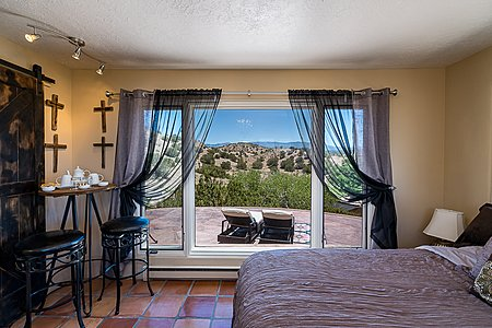 Guest Suite with Views to Patio & Sangres