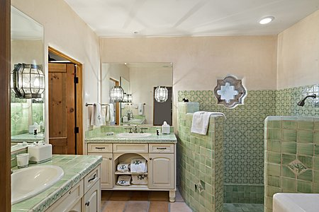 Master Bath with Double Sinks and Shower and Walk-In Closet