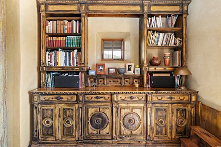 Custom built cabinet in Sala performance area of the Main house