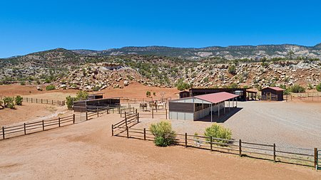 Hores stables and corral area