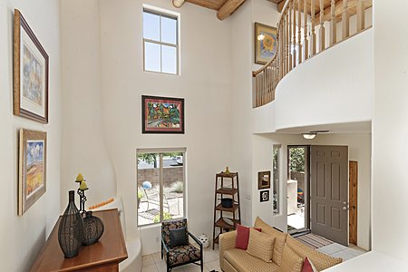 The Balcony from the Den overlooks the Living Area