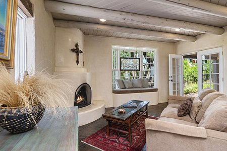 Living Room with French Doors to Front Portal