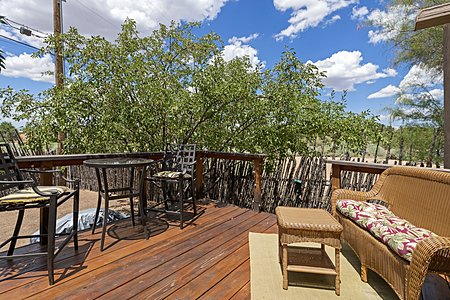 Sunny Rear Deck off of Dining Area