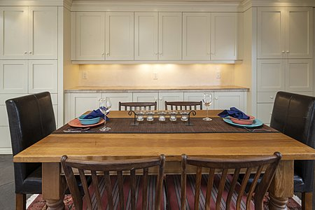 Dining Area with Cabinets for Ample Storage