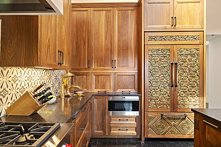 ...and Custom Walnut Cabinetry