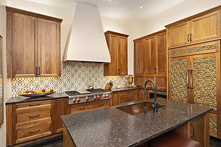 ...with Period-inspired Custom Tiles and Caucasus Mountain Stone Countertops...