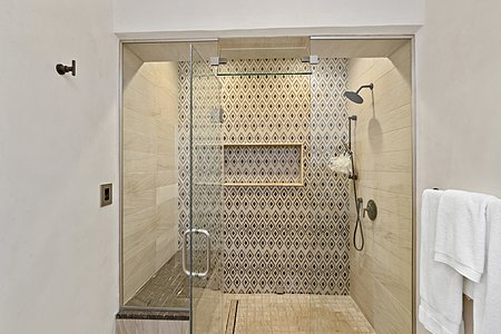 Steam Shower in the Owner's Bath