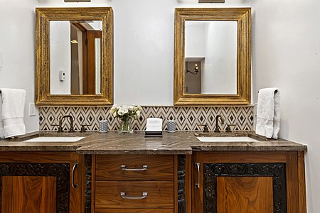 Handsome Double Vanity in the Owner's Bath