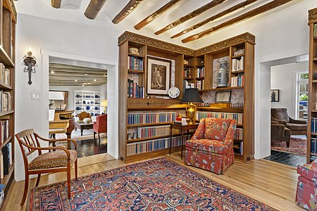 Inviting Library in the Owner's Suite