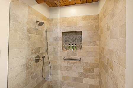Detail of Tiled Walk-in Shower