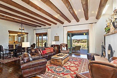 Great Room, Entertaining Portal  & Expansive Jemez Mountain Views