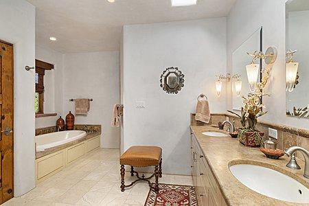 Master Bath Soak Tub and Walk-in Shower
