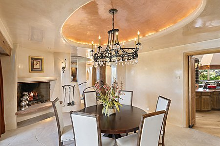 Formal dining room oval cove