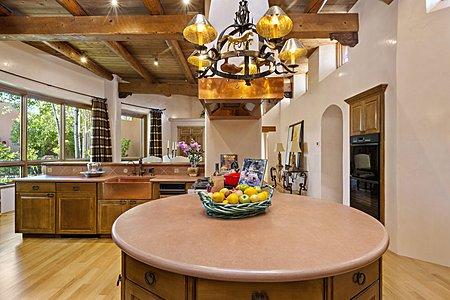 Key shaped kitchen island