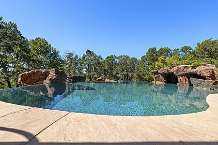 Organically shaped outdoor pool