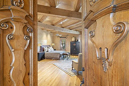 Looking into master suite