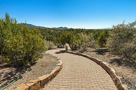 Paved walkway on property