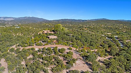 View of 8+ acre walled property