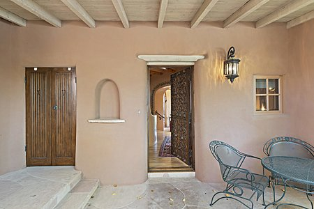 Gate house front door