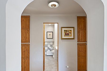 Passageway from Living Room to Guest Bath & Guest Bedroom