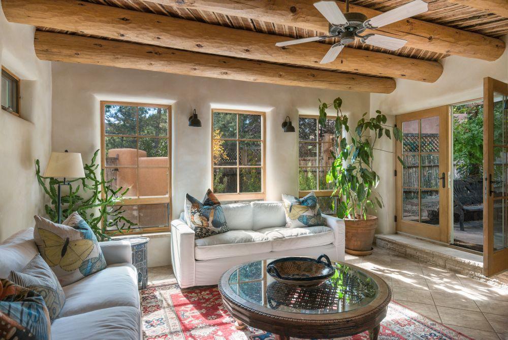Fabulous eastside adobe home santa fe real estate for Santa fe adobe homes